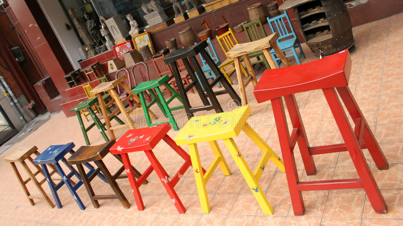 Colorful furniture stock images