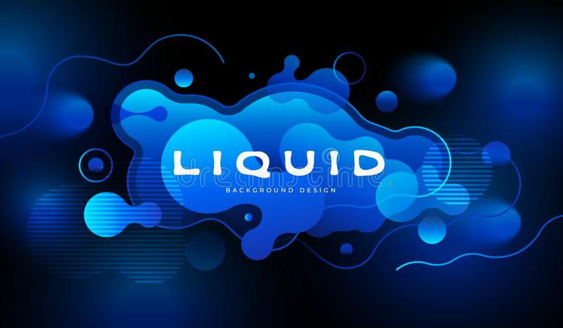 Colorful futuristic background design. Fluid shapes composition with trendy flow gradients. Eps10 vector. Colorful futuristic background design. Fluid shapes vector illustration