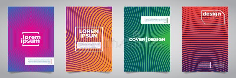 Colorful Futuristic Minimalist Covers Design. EPS10 Vector Illustration. royalty free illustration