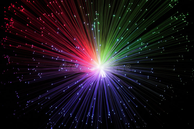 Colorful galaxy. Colour spectrum of galactical lights stock images
