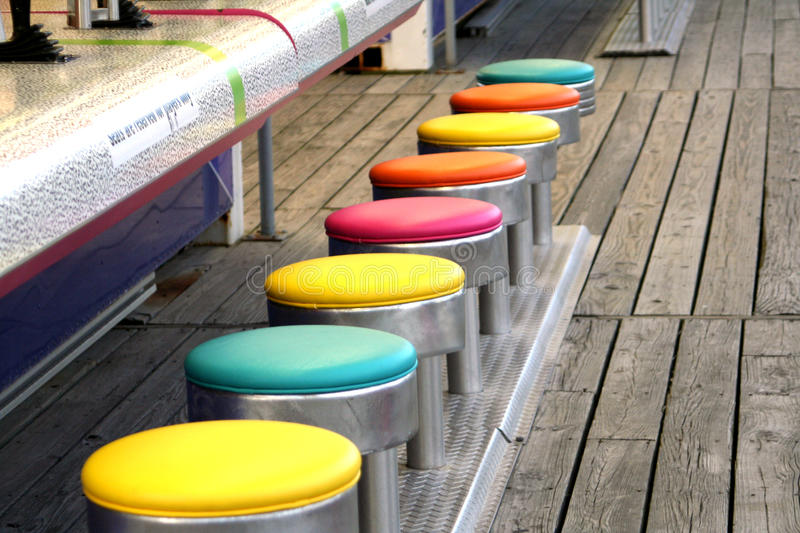 Colorful Game Stools royalty free stock photo
