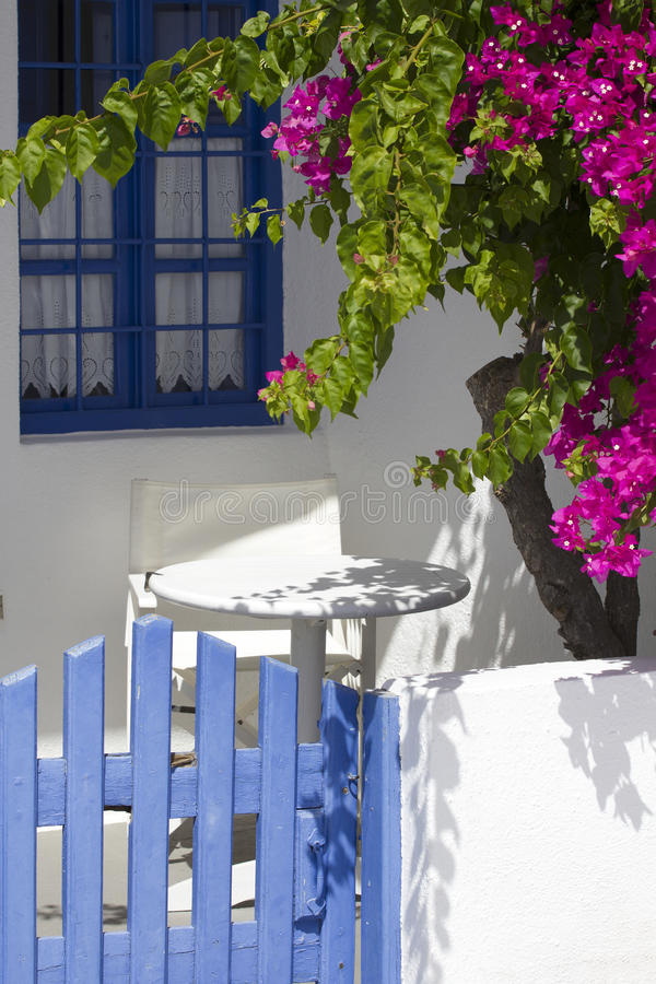 Colorful garden terrace stock image. Image of green ...