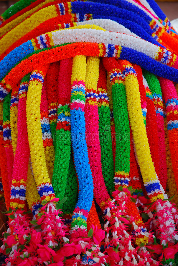 Download Colorful garlands stock image. Image of plastic, close - 7102969
