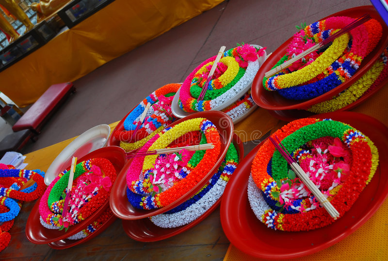 Download Colorful garlands stock image. Image of coil, buddhism - 7102983