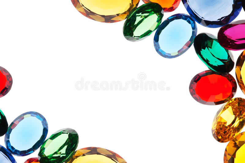 Colorful gems royalty free stock photos