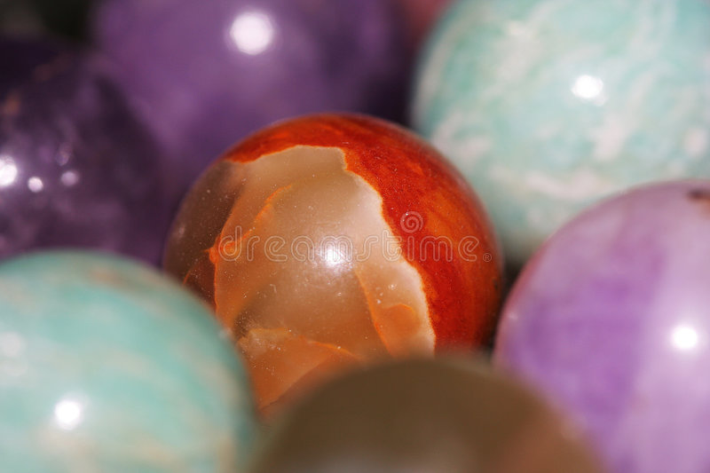 Colorful gems stock image