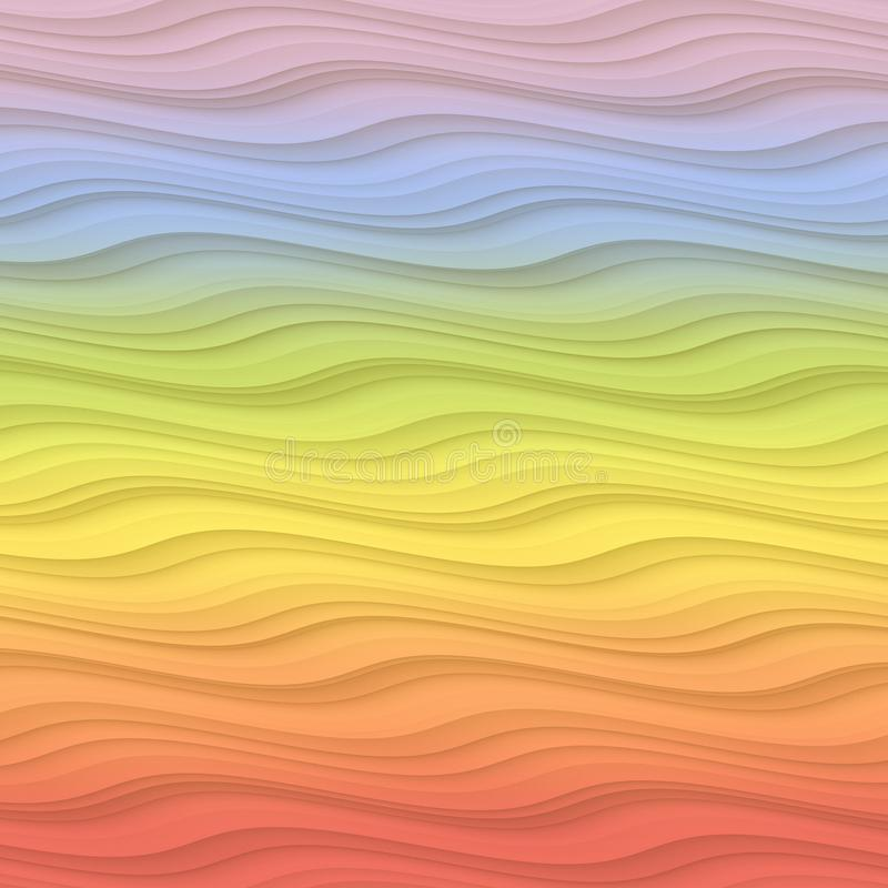 Free Colorful Gentle Rippling Waves Rainbow Gradient Abstract Background Design Illustration Stock Images - 113187444