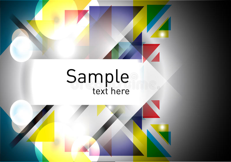 Colorful geometric abstract background royalty free illustration