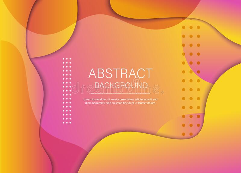 Colorful geometric background. Composition of the liquid form. Creative illustration for poster, web, landing, page, cover, ad, stock illustration