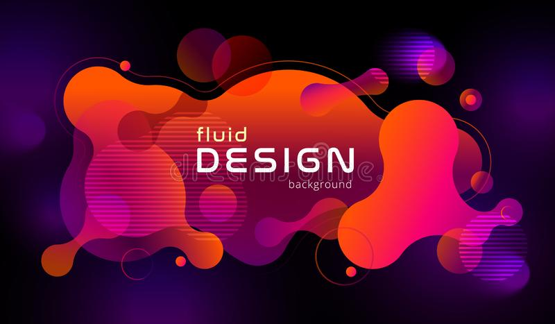 Colorful geometric background design. Fluid shapes composition with trendy flow gradients. Eps10 vector. Colorful geometric background design. Fluid shapes royalty free illustration