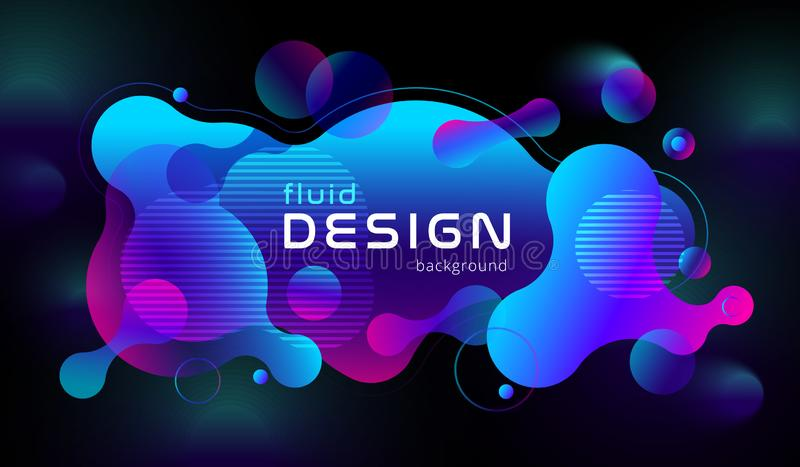 Colorful geometric background design. Fluid shapes composition with trendy gradients. Eps10 vector. Colorful geometric background design. Fluid shapes vector illustration