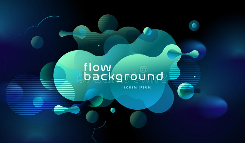Colorful geometric background design. Fluid shapes composition with trendy gradients. Eps10 vector. Colorful geometric background design. Fluid shapes stock illustration