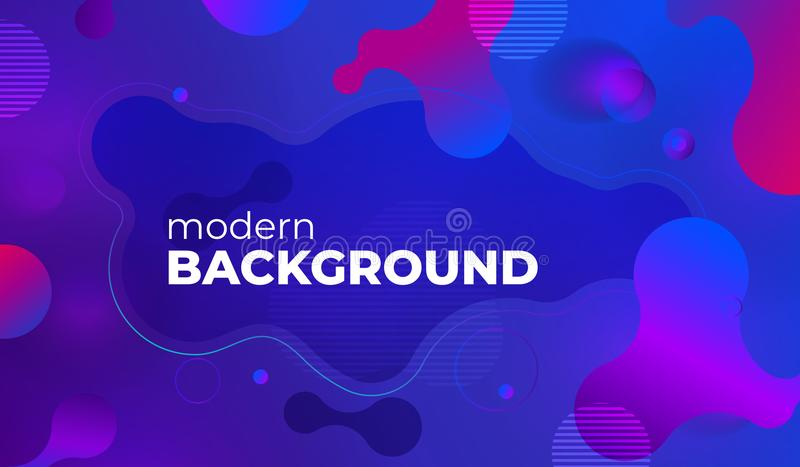 Colorful geometric background design. Fluid shapes composition with trendy gradients. Eps10 vector. Colorful geometric background design. Fluid shapes royalty free illustration