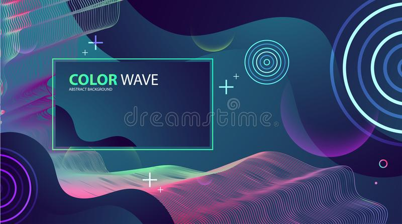 Colorful geometric background design. Wave composition. Colorful geometric background design. Wave composition cover. Artistic Vector illustration stock illustration