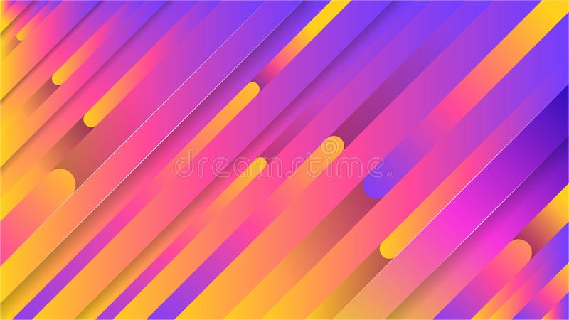 Colorful geometric background. Dynamic shapes composition vector illustration