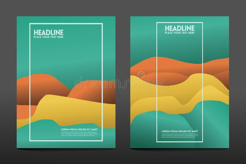 Colorful geometric background. Fluid shapes composition stock illustration