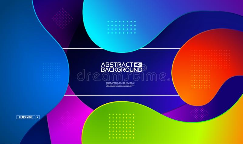 Modern gradient shape background. Colorful gradient cover design. Fluid flat shapes composition. Vector modern design royalty free stock photo