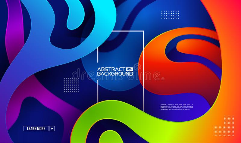 Modern gradient shape background. Colorful gradient cover design. Fluid flat shapes composition. Vector modern design royalty free stock images