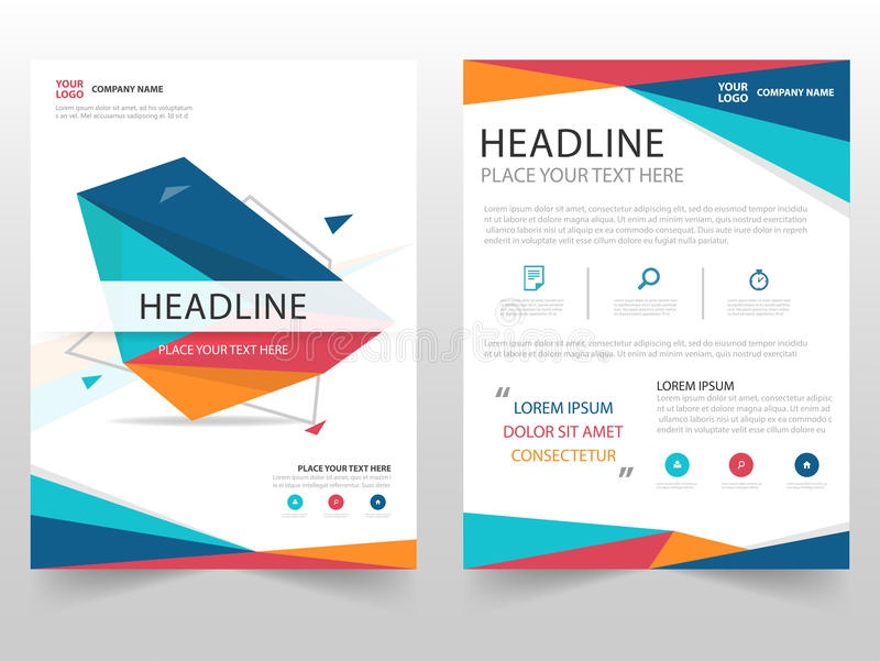 Download Colorful Geometric Leaflet Brochure Flyer Annual Report Template  Design, Book Cover Layout Design,