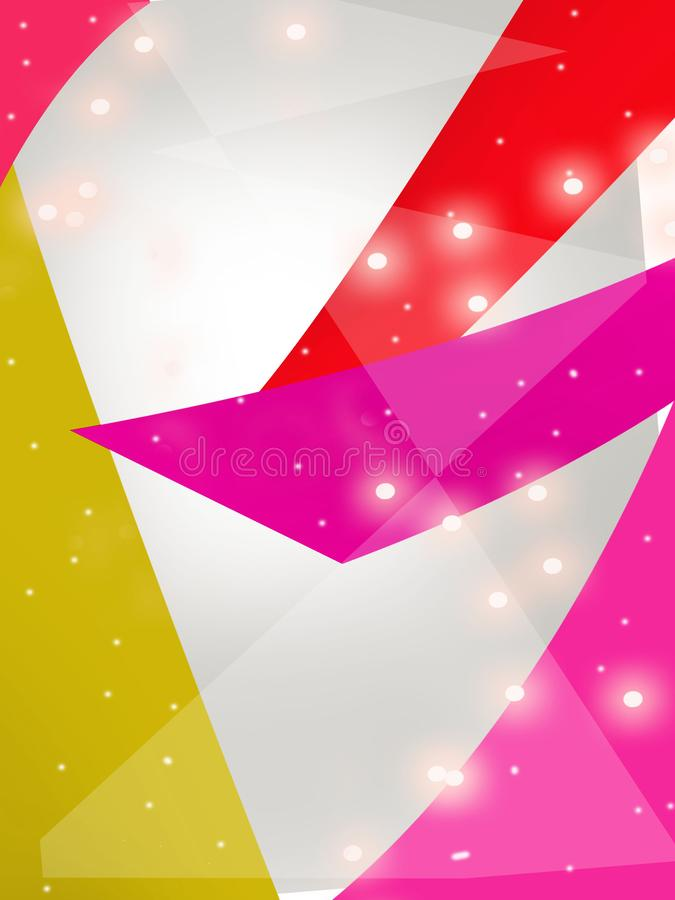 Colorful geometric overlap dotted abstract background. Vertical creative background royalty free illustration