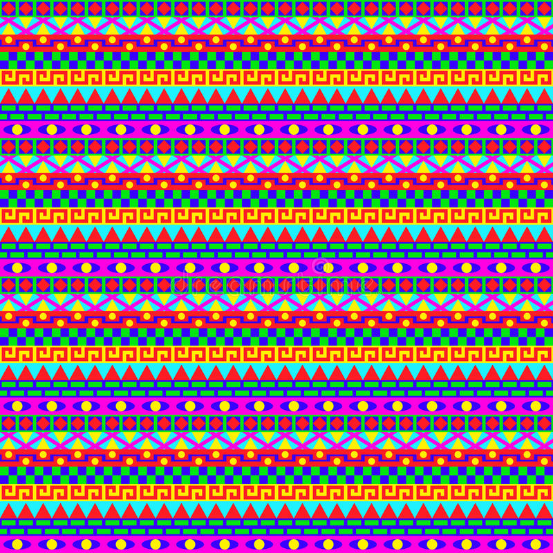 Colorful Geometric Stripes Pattern royalty free illustration