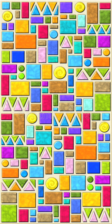 Colorful geometric tile pattern royalty free stock photos