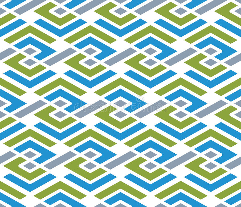 Colorful geometric zigzag seamless pattern, symmetric endless ve stock illustration