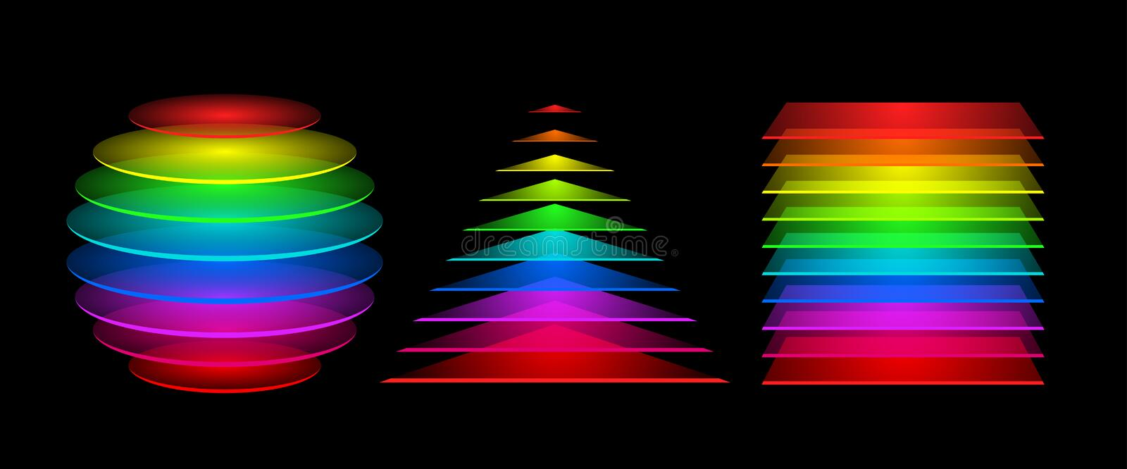 Colorful geometrical figures royalty free illustration