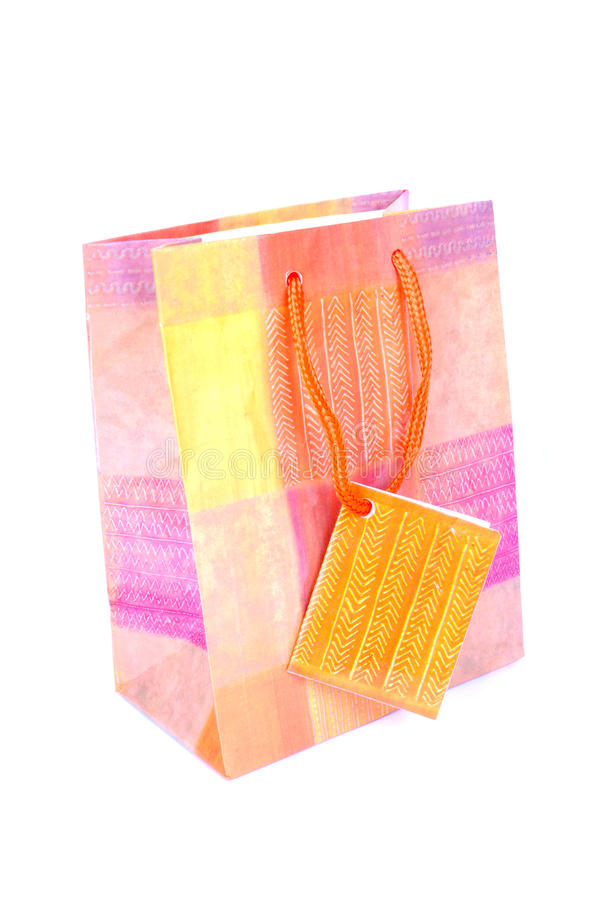 Download Gift bag on white stock image. Image of colours, paper - 18906561
