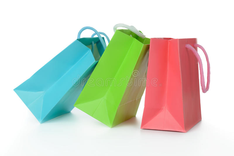 Colorful gift bags royalty free stock image