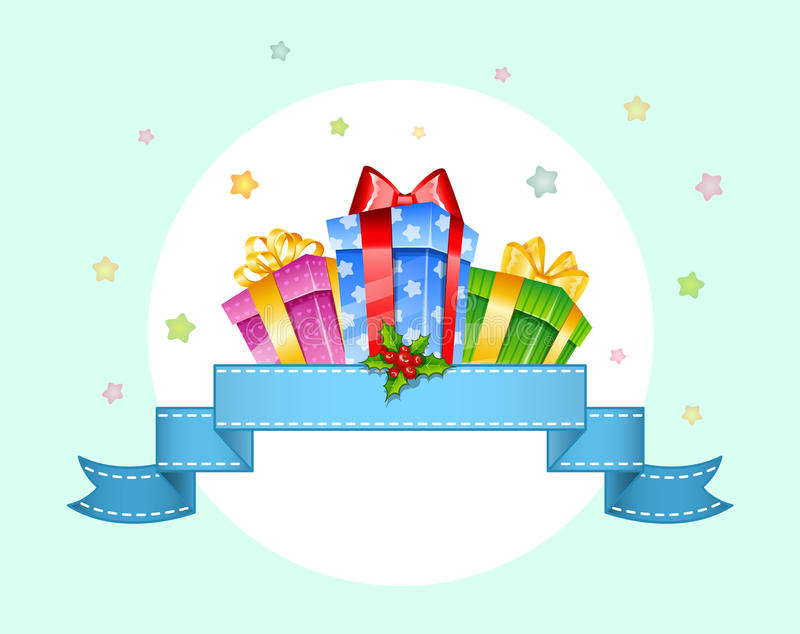 Download Colorful Gift Boxes With Bows Stock Illustration - Image: 27616435