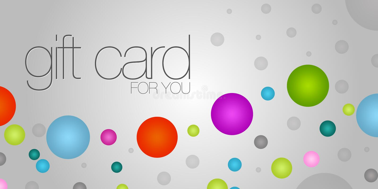 Colorful Gift Card royalty free illustration