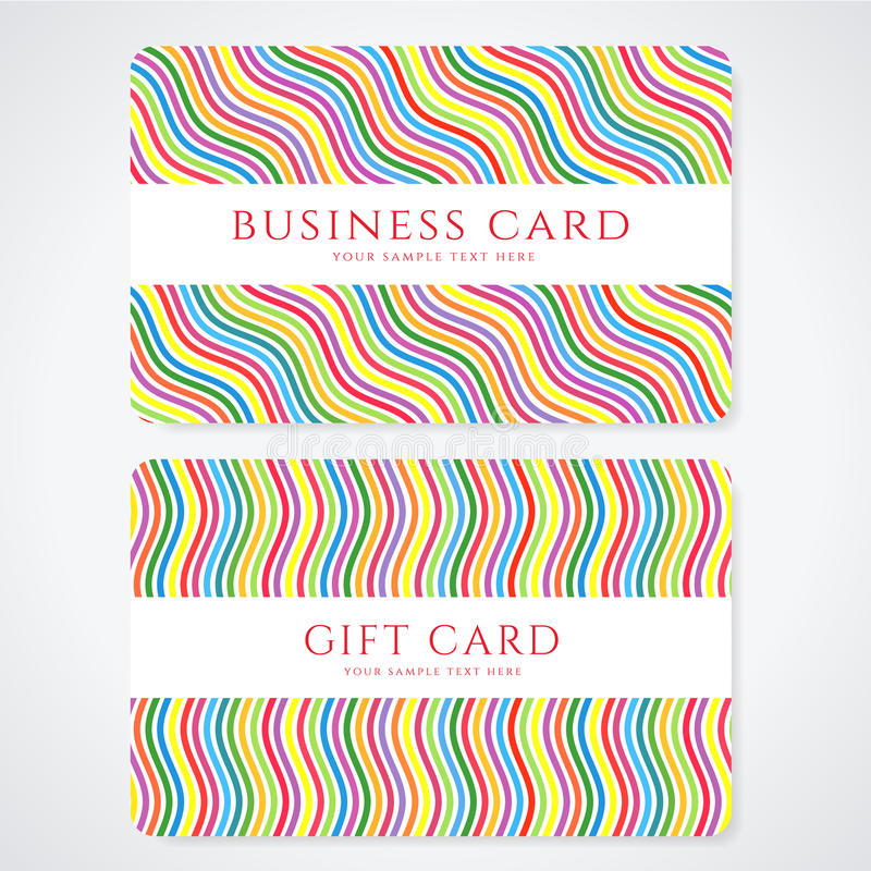 Colorful Gift Card / Discount Card / Business Card Stock Vector ...
