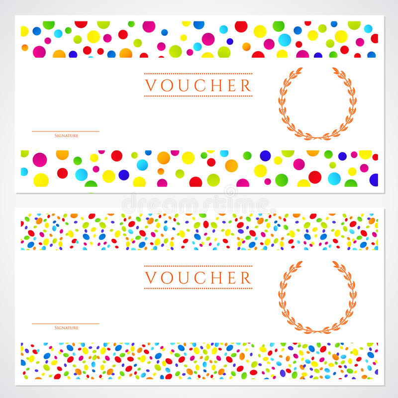 Colorful gift certificate voucher template stock vector download colorful gift certificate voucher template stock vector illustration 31517553 yadclub Gallery