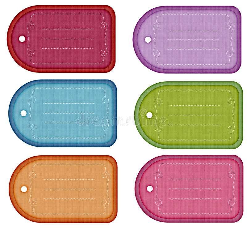 Download Colorful Gift Tags stock illustration. Image of scrolled - 17577593