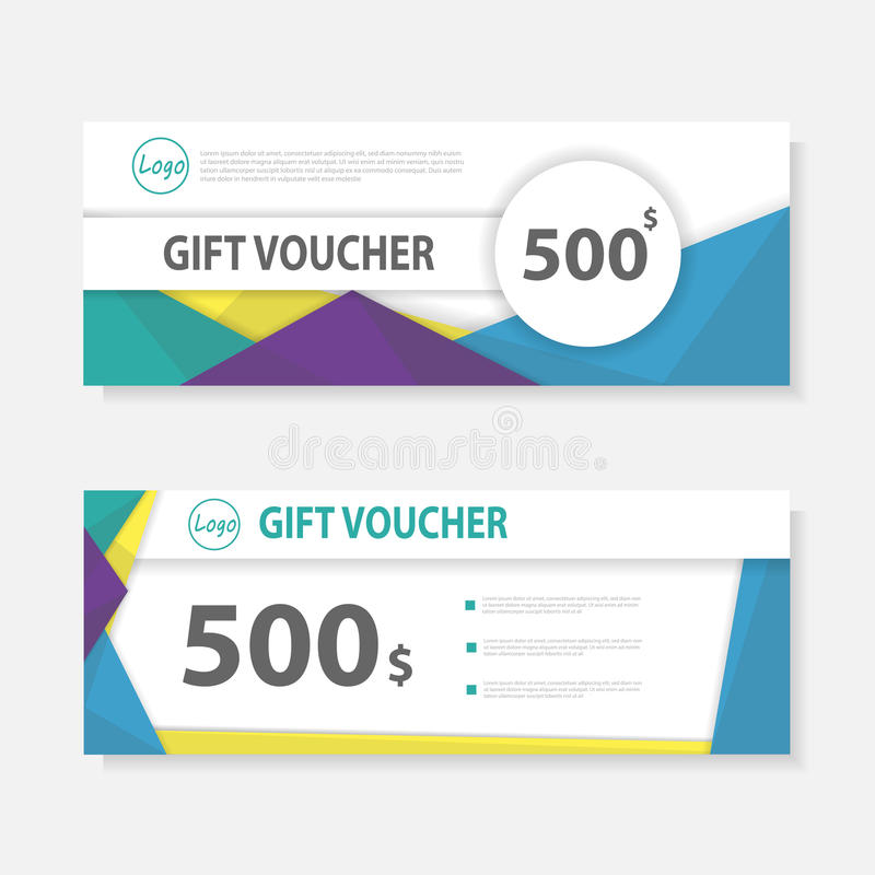 Colorful Gift Voucher Template With Colorful Patterncute Gift