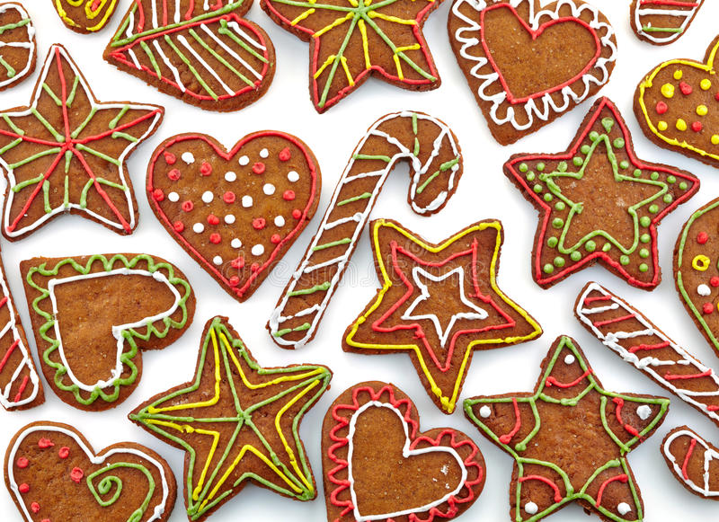 Colorful gingerbread cookies royalty free stock images
