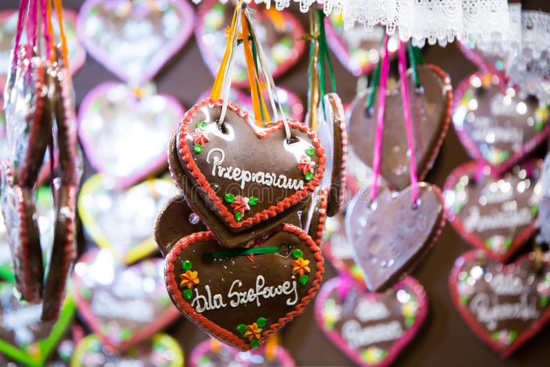 Colorful gingerbread royalty free stock photos