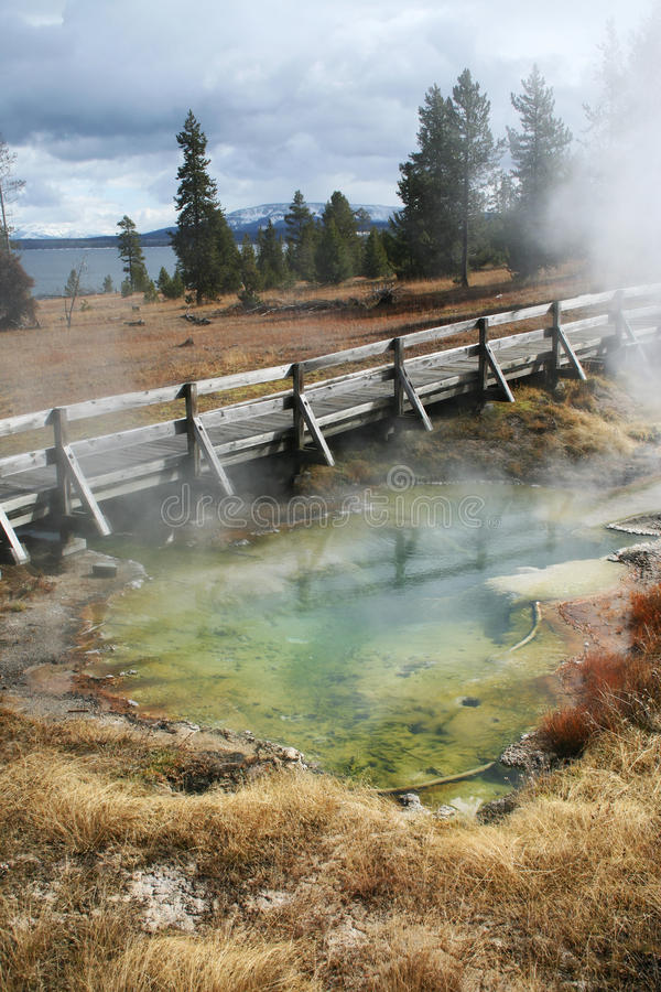 Colorful glacier in yellowstone royalty free stock photography