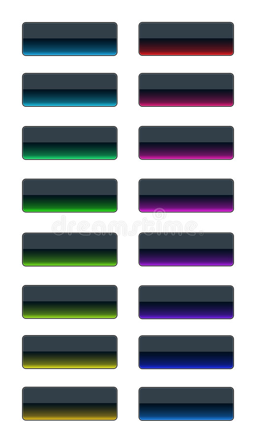 Download Colorful glass buttons stock illustration. Image of shape - 3745273