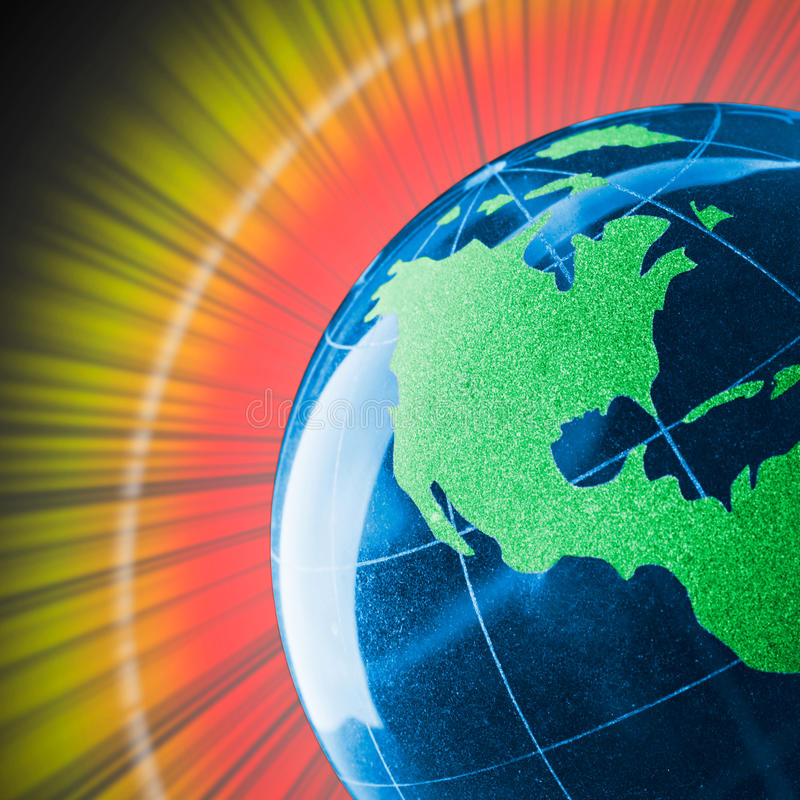 Download Colorful Glass Globe With Shining Stock Image - Image: 20085177