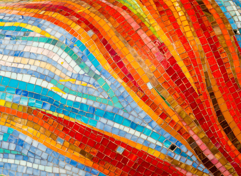 Colorful glass mosaic wall background. S stock photography