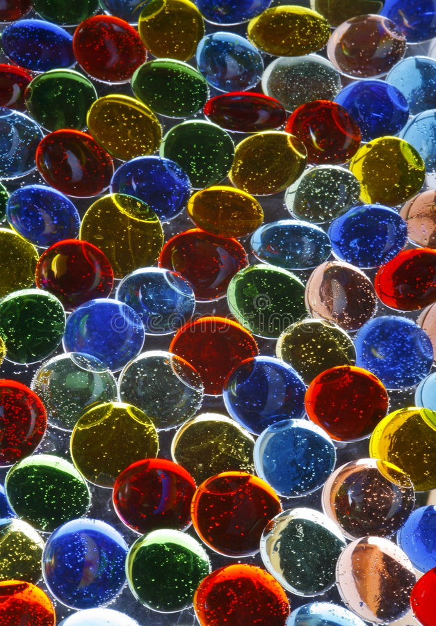 Colorful Glass Pebbles royalty free stock photography