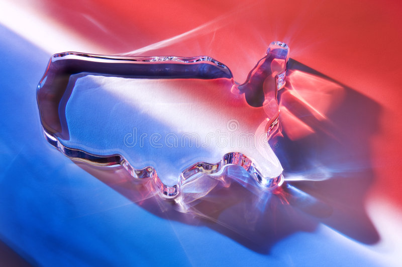 Download Colorful Glass US Paperweight Stock Image - Image: 7770245