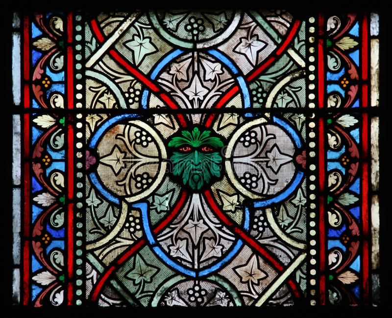 Colorful Glass Window In A Church Royalty Free Stock Photos