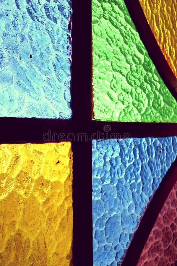 Colorful glass window. Glass, glazing, window, Window Color, color, colored, colored glass, texture, background royalty free stock photo