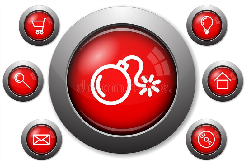 Colorful Glassy Web Buttons Stock Image