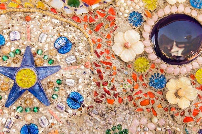 Colorful glazed tile royalty free stock photo