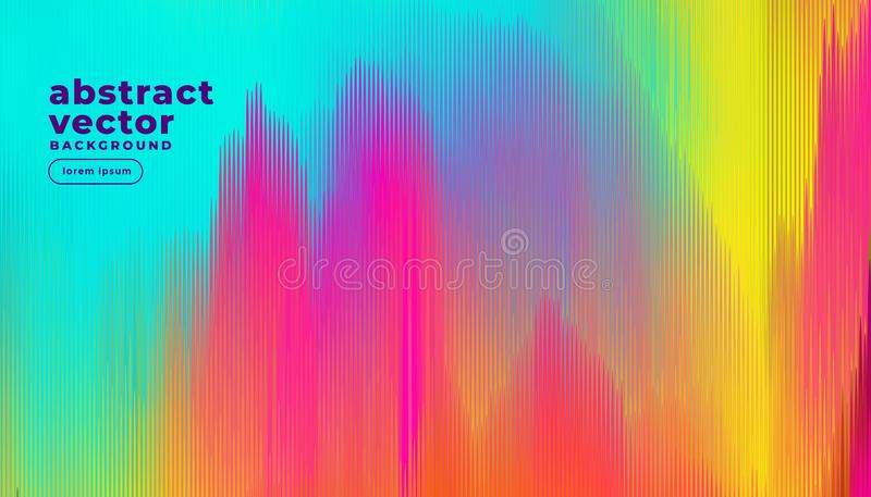Colorful glitch lines abstract background. Vector royalty free illustration