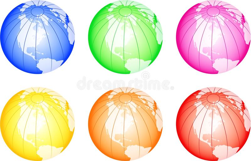 Colorful Globes royalty free illustration